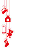 Hanging gifts background Royalty Free Stock Images