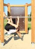 Hanging girl Stock Photography