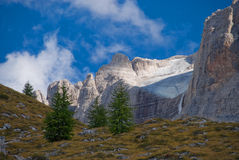 Hanging Glacier. A glacier in a hanging valley in the  Brenta Dolomites of Italy Royalty Free Stock Photos