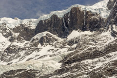 Hanging Glaciers and Rock in the Patagonian Andes Stock Photo
