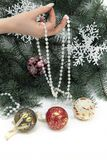 Hanging glass ornament Royalty Free Stock Photo