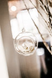 Hanging glass ornament Stock Photo
