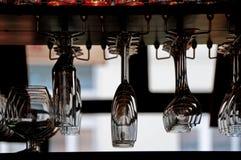 Hanging glasses Royalty Free Stock Image