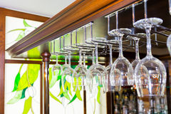 Hanging Glasses Royalty Free Stock Images