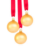 Hanging golden balls Stock Images