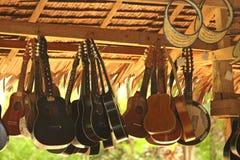 Hanging Guitars stock photo