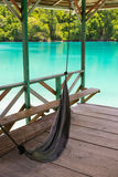 Hanging hammock for relax in tropical tourist resort Royalty Free Stock Photography