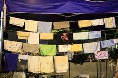 Hanging handkerchiefs Royalty Free Stock Photos
