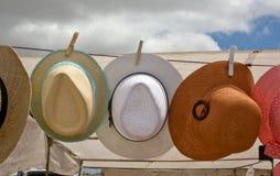 Hanging hats royalty free stock image
