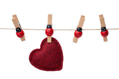 Hanging heart Stock Photos