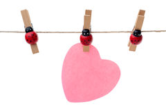 Hanging heart Royalty Free Stock Photos