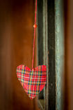 Hanging heart decoration Royalty Free Stock Photos
