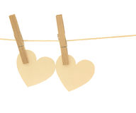 Hanging heart Royalty Free Stock Photo