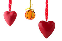 Hanging hearts Stock Photo