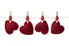 Hanging hearts Royalty Free Stock Photo