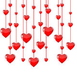 Hanging hearts background Royalty Free Stock Images