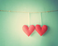 Hanging Hearts Stock Images