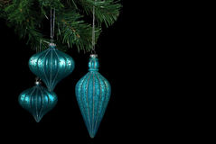 Hanging Holiday Ornaments Royalty Free Stock Photography