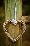 Hanging homemade heart Stock Photography