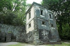 The Hanging House. In Bomarzo ville of wandares known as the moster park Royalty Free Stock Photos