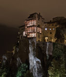Hanging houses of Cuenca. Night photography Hanging houses of Cuenca Royalty Free Stock Images