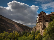 Hanging houses of Cuenca Stock Images