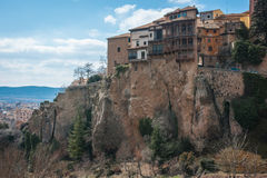 Hanging houses in Cuenca, Castilla la Mancha, Spain Stock Photos