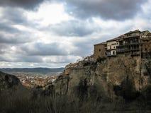 Hanging houses in Cuenca, Castilla la Mancha, Spain Stock Images
