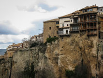 Hanging houses in Cuenca, Castilla la Mancha, Spain Royalty Free Stock Photography