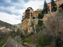 Hanging houses in Cuenca, Castilla la Mancha, Spain Royalty Free Stock Images