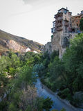 Hanging houses in Cuenca, Castilla la Mancha, Spain Stock Photos