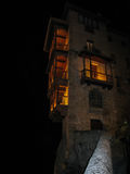 Hanging houses in Cuenca at night, Castilla la Mancha, Spain Royalty Free Stock Photography