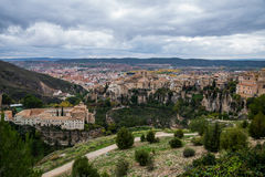 Hanging houses of Cuenca. Royalty Free Stock Photography