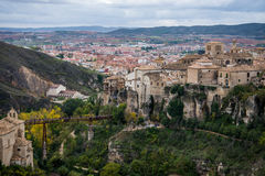 Hanging houses of Cuenca. Stock Images