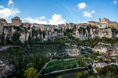 Hanging houses of Cuenca. Royalty Free Stock Image