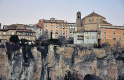 Hanging houses of Cuenca Stock Photography