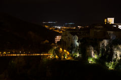 Hanging houses of Cuenca. Spain. Royalty Free Stock Images