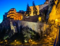 Hanging Houses in Cuenca royalty free stock images
