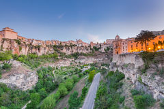 Hanging houses over valley in Cuenca, Spain Royalty Free Stock Photography