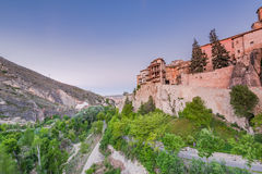 Hanging houses over valley in Cuenca, Spain Royalty Free Stock Image
