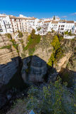Hanging houses in Ronda, Malaga, Spain Stock Photo