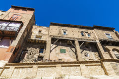 Hanging houses in Tarazona de Aragon, Saragossa, Spain Stock Photos