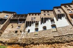 Hanging houses in Tarazona de Aragon, Saragossa, Spain Royalty Free Stock Photo