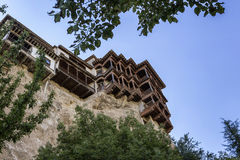 Hanging houses (Casas Colgadas) in Cuenca, Spain Royalty Free Stock Images