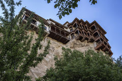 Hanging houses (Casas Colgadas) in Cuenca, Spain Royalty Free Stock Photos