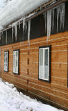 Hanging icicles Stock Images