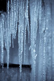 Hanging icicles in selenium II. Royalty Free Stock Photography