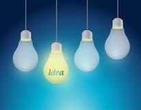 Hanging ideas illustration design Stock Images