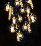 Hanging incandescent bulbs Royalty Free Stock Photos