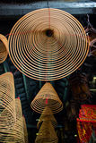 The hanging incense coils of a Chinese temple Stock Photos